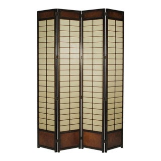 Mid-Century Asian Style for Panel Screen Circa 1970 For Sale