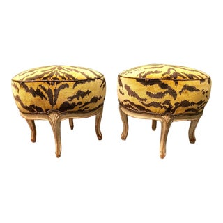 18th Century Vintage Louis XV Stools - a Pair For Sale