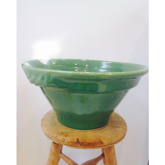 Large Sage Green Mixing Ceramic Bowl - Image 3 of 6