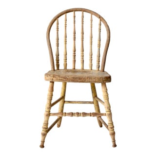 Late 19th Century Antique Spindle Back Farmhouse Chair For Sale