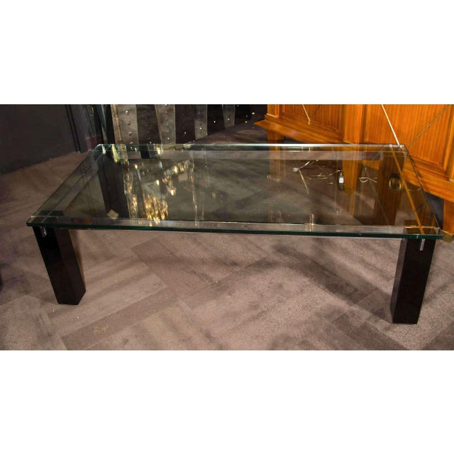 Silver Crespi Italian Mid-Century Modern Architectural Coffee Table For Sale - Image 8 of 11