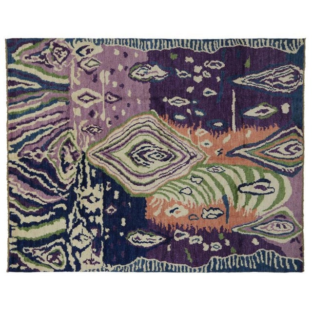 Early 21st Century New Contemporary Moroccan Style Area Rug With Postmodern Style and Abstract Memphis Design For Sale - Image 5 of 7