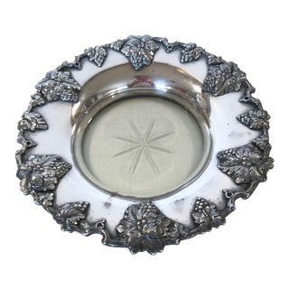 Late 19th Century Antique Magnum Sheffield Silver Plate Wine Coaster For Sale