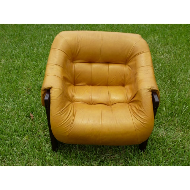 Percival Lafer Lounge Chair in Rosewood and Leather For Sale - Image 9 of 11