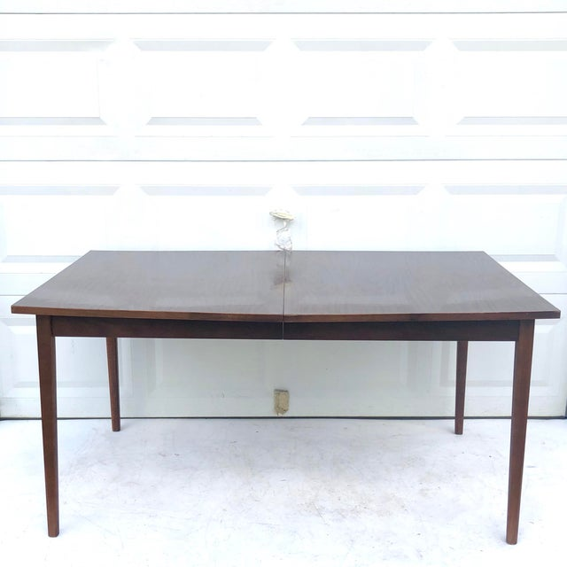 Mid-Century Modern Dining Table With Leaf For Sale - Image 11 of 11