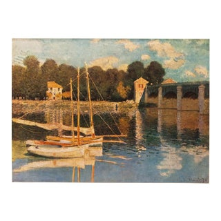 "1930s Claude Monet, Rare Original ""The Seine at Argenteuil"" Lithograph For Sale"