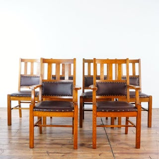 Arts & Crafts Mission Style Dining Chairs - Set of 6 Preview