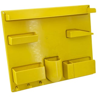 Yellow 1970s Organizer Wall All III Uten.Silo Dorothee Maurer-Becker Pop Art Era For Sale