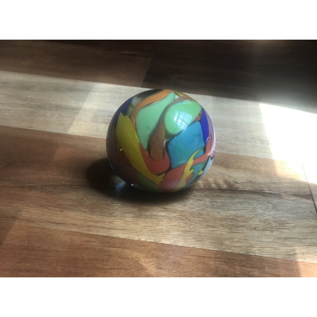 Mid-Century Modern Artist Signed Paper Weight For Sale - Image 3 of 5