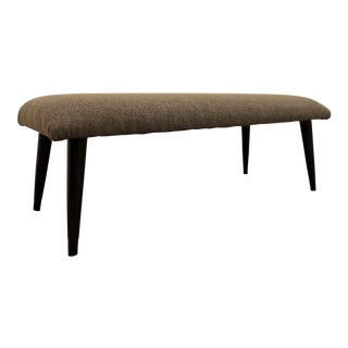 Mid-Century Danish Modern Gray Bench