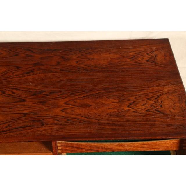 Mid Century Danish Modern Rosewood Sideboard by Henry Rosengren Hansen for Brande Mobelindustri For Sale - Image 9 of 11