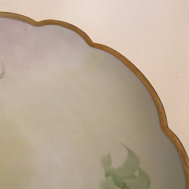 1900 - 1909 Early 20th Century Antique French Limoges Plate For Sale - Image 5 of 11