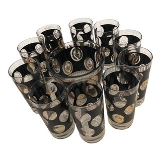 Mid-Century G Reeves Holiday Barware Set For Sale