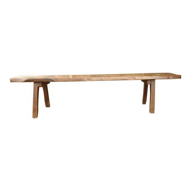 French Live-Slab Top Bench For Sale