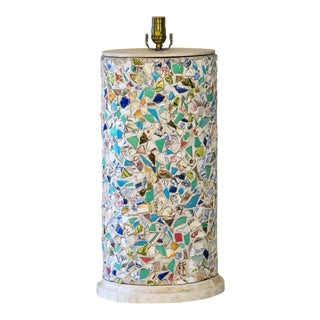 Mid 20th Century Mosaic Memory Ware Lamp For Sale
