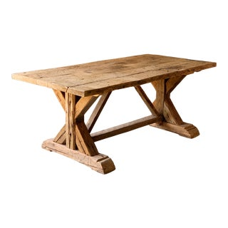 French Trestle Table For Sale