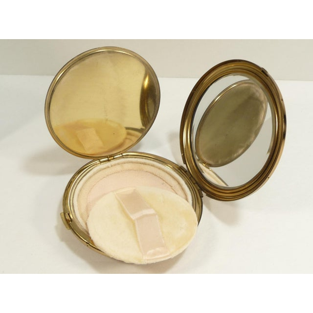 Mid-Century Asian Hollywood Glam Mirrored Compact - Image 5 of 7