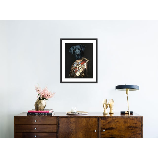 Contemporary Retriever by Anja Wuelfing in Black Frame, Small Art Print For Sale - Image 3 of 4