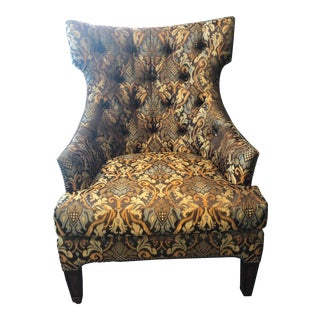 Modern Marge Carson Patterned Chair For Sale