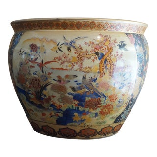1940s Chinese Goldfish Bowl Planter For Sale
