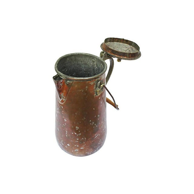 19th-C. French Copper Coffeepot For Sale - Image 4 of 6