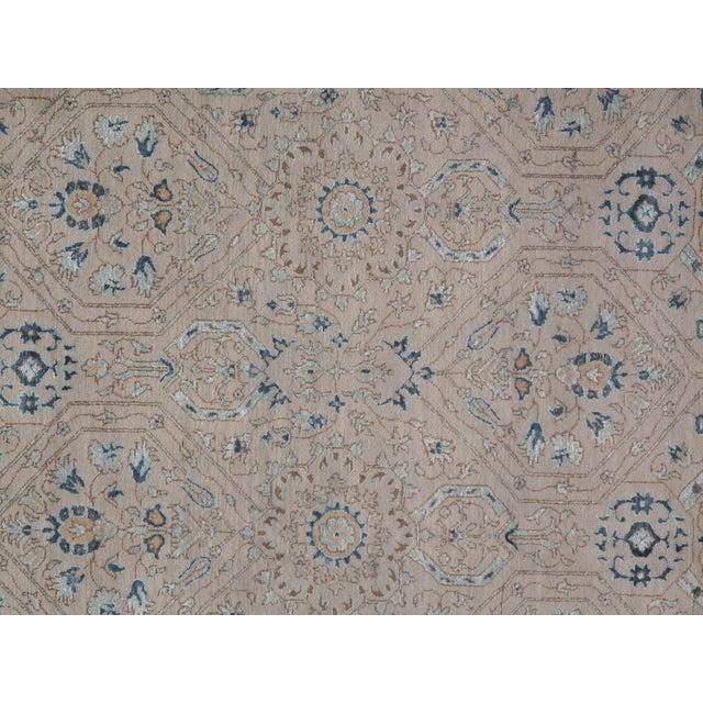 Pasargad DC Modern Erased Design Silk &Wool Rug - 9′ × 12′ For Sale - Image 4 of 5