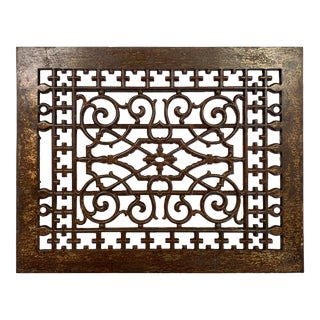 Antique Architectural Salvage Brass Grill For Sale