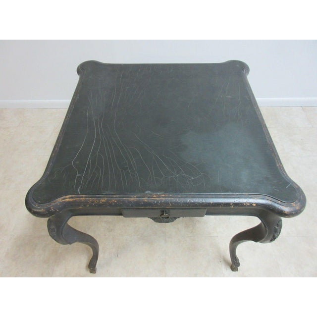 Antique Italian Regency Carved Leather Top Game Table For Sale In Philadelphia - Image 6 of 9