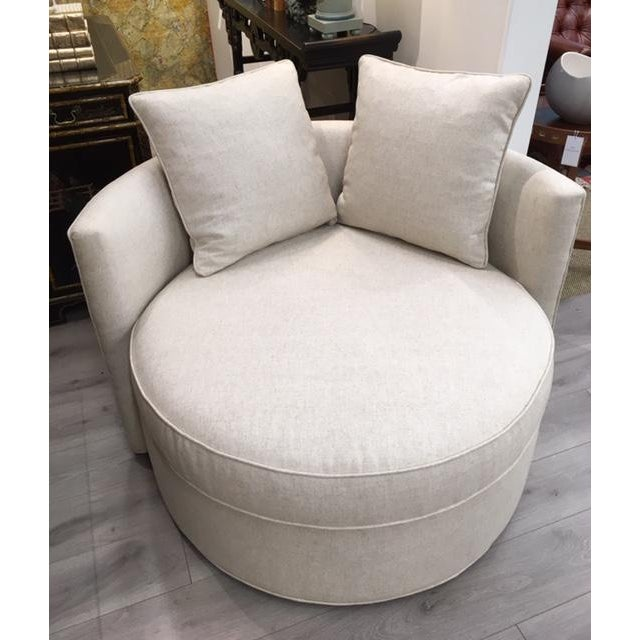 Leggett & Platt Chair and a Half Swivel For Sale In New York - Image 6 of 6