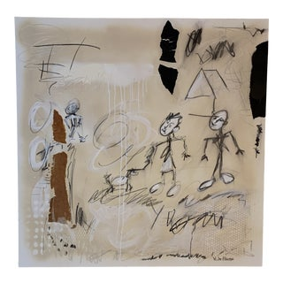 Contemporary Abstract Figurative Mixed-Media Painting by Joe Adams For Sale
