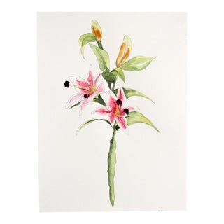 Contemporary Floral Watercolor Painting
