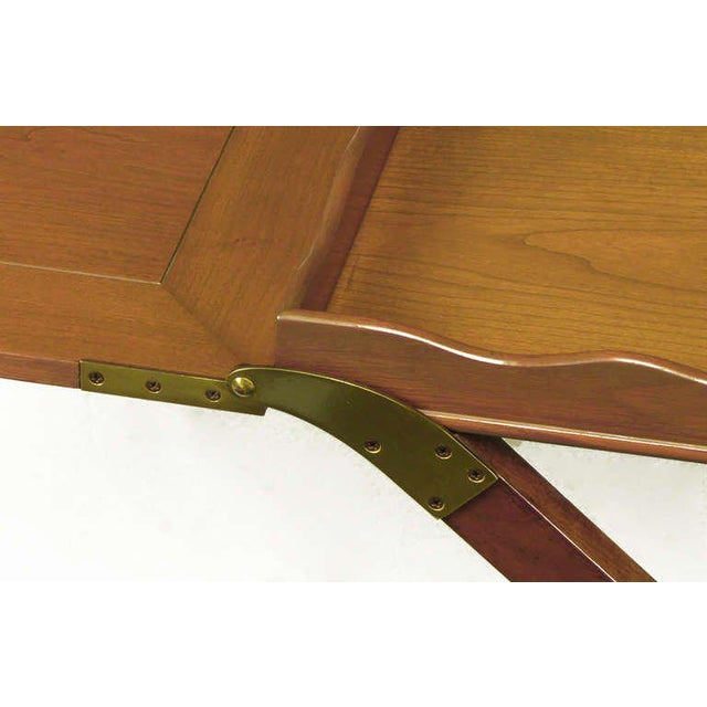 Gold Baker Serving Table with Removable Tray and Butterfly Top For Sale - Image 8 of 9
