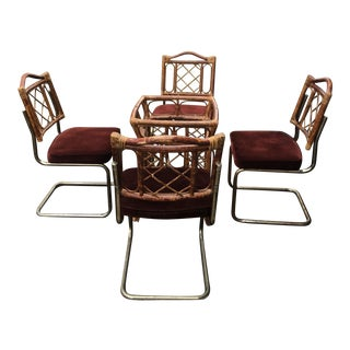 Vintage Rattan Dining Set - Set of 5