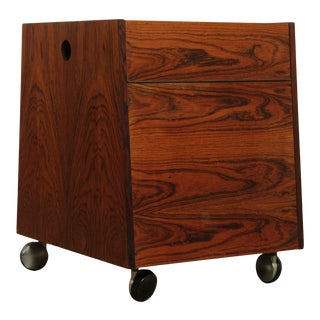 Bruksbo Of Norway Mid Century Rosewood Storage Cabinet End Table For Sale