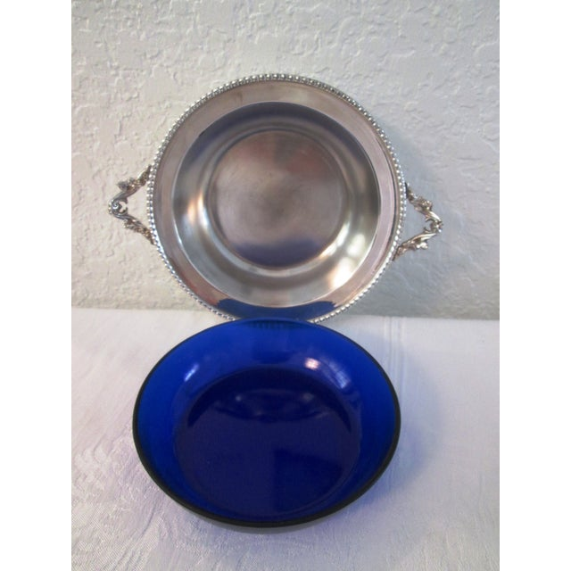 English Silver Lidded Bowl With Glass Insert - Image 9 of 11