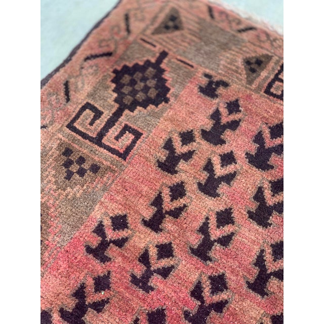 1940s Vintage Persian Baluchi Rug - 3′10″ × 6′1″ For Sale - Image 11 of 13