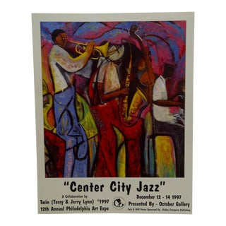 "1997 ""Center City Jazz"" 12th Annual Philadelphia Art Expo Gallery Poster For Sale"