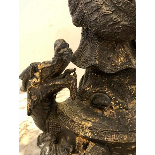 18th-19th Century Figure One of the Three Gods of Good Fortune For Sale - Image 9 of 13