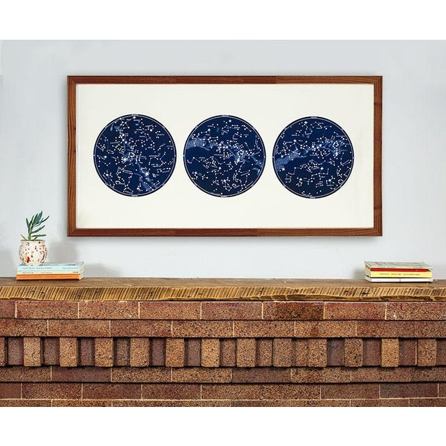 """Contemporary """"Capricorn Press"""" Celestial Print With 3 Constellation Maps For Sale - Image 3 of 7"""