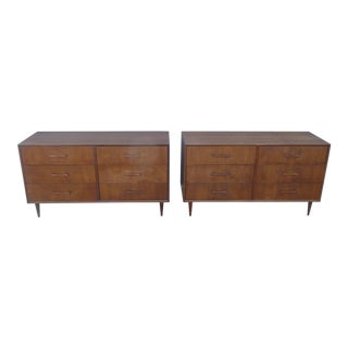 1960s Danish Modern Teak Six Drawer Chests - a Pair For Sale