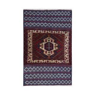 Persian Handwoven Ghochan Tribal Wool Rug - 3x5 For Sale