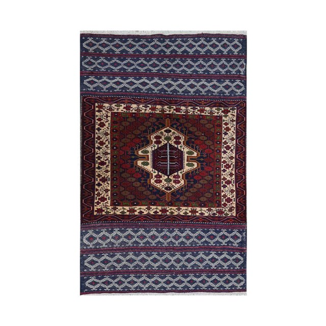 Persian Handwoven Ghochan Tribal Wool Rug - 3x5 For Sale
