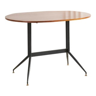 Teak and Iron Table in the Style of Ico Parisi For Sale