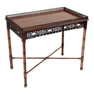 Chinese Chippendale Style Mahogany Tea Table