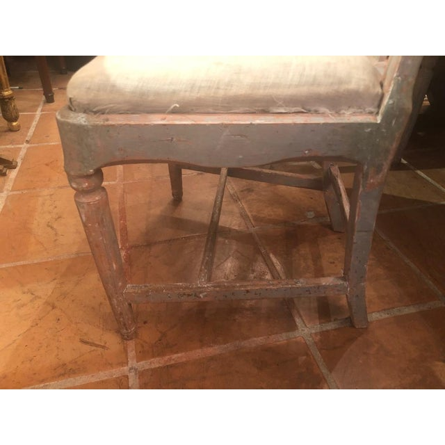 Late 18th Century Set of Six Gustavian Chairs For Sale - Image 5 of 9