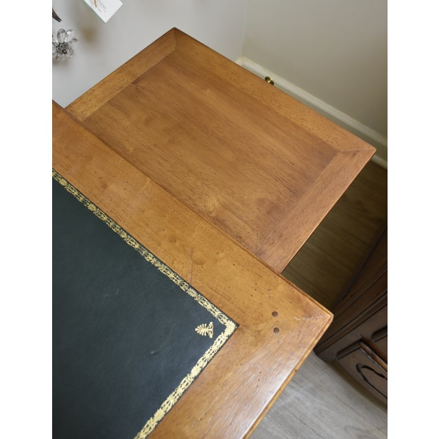 Louis XVI Style Green Leather Top Writing Desk For Sale - Image 4 of 13