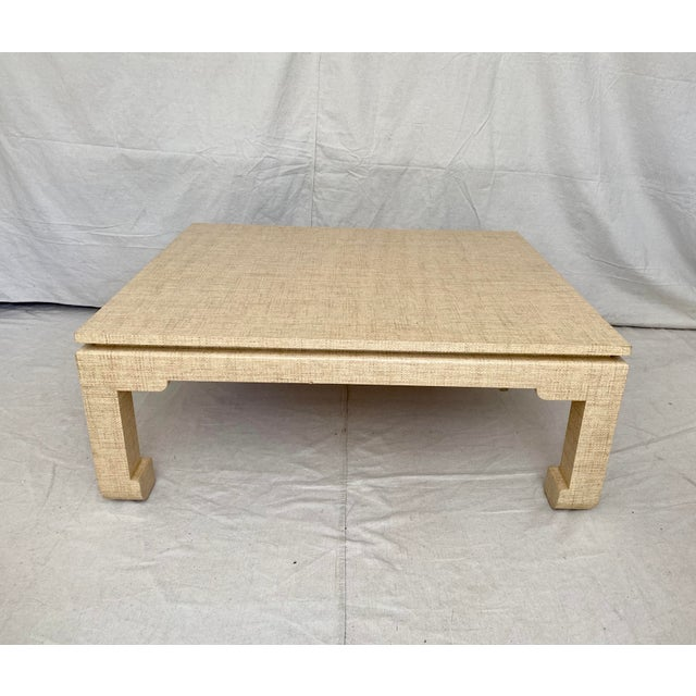 Grasscloth Wrapped Ming Style Coffee Table For Sale - Image 10 of 11