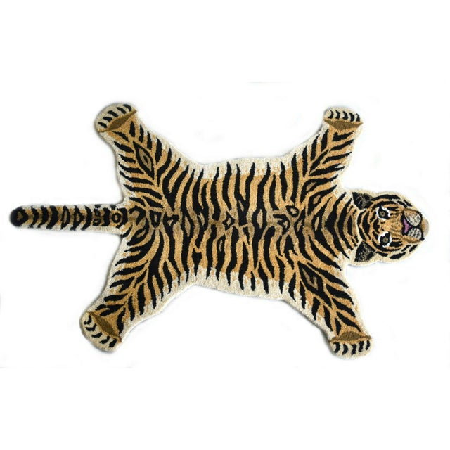 1990s Vintage Tiger Style Persian Rug - 3′ × 5′ For Sale In Houston - Image 6 of 7