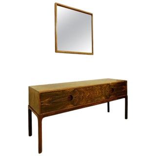 Console and Mirror by Kai Kristiansen for Aksel Kjersgaard, Denmark For Sale