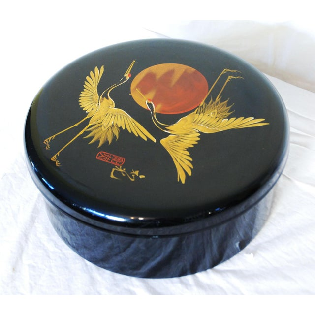 Japanese Black Lacquered Box - Image 2 of 6